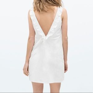 Zara Trafaluc White Cotton Dress